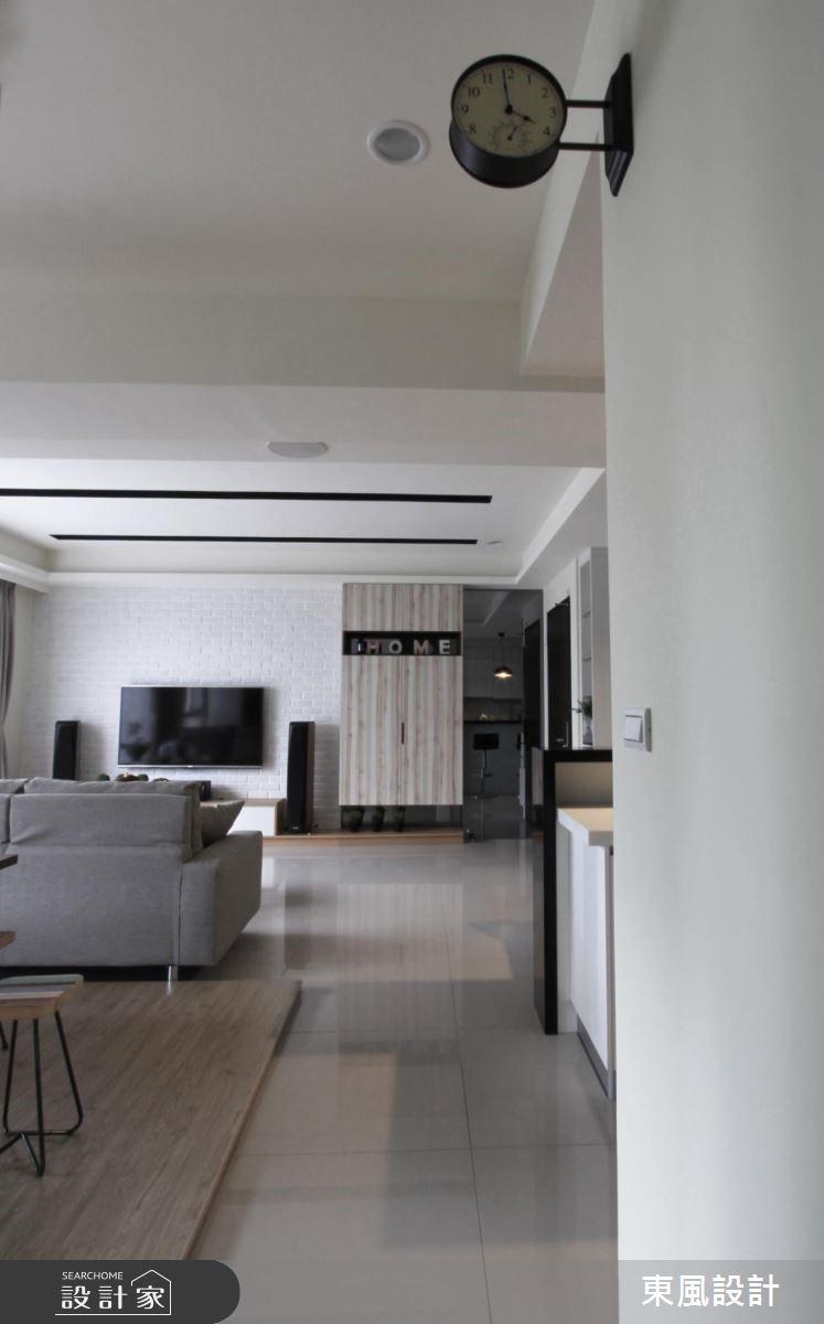 40坪新成屋(5年以下)_北歐風走廊案例圖片_東風室內設計_東風_20之4