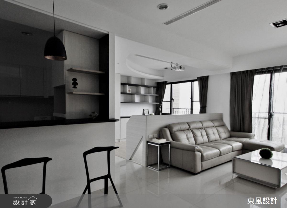 40坪新成屋(5年以下)_現代風吧檯案例圖片_東風室內設計_東風_21之2