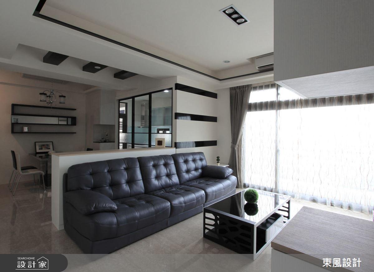 40坪新成屋(5年以下)_現代風客廳案例圖片_東風室內設計_東風_23之4