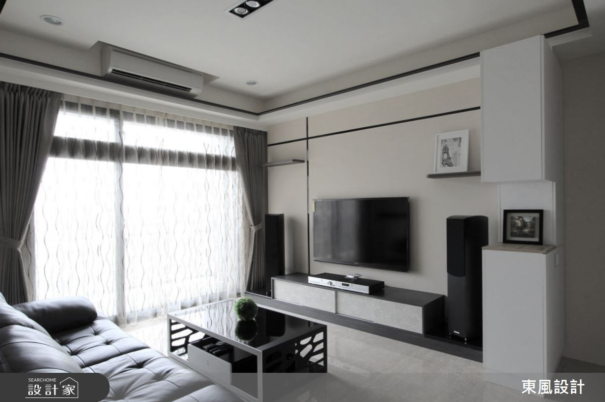 40坪新成屋(5年以下)_現代風客廳案例圖片_東風室內設計_東風_23之2