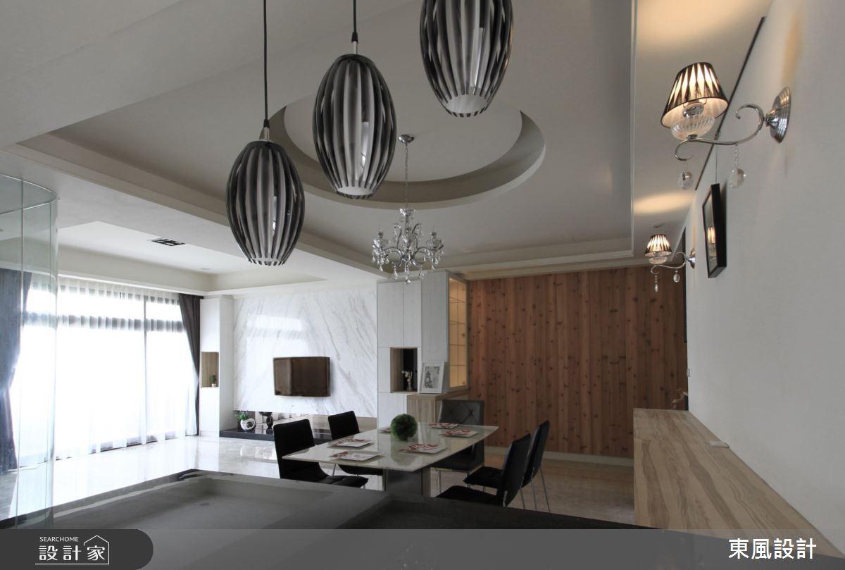 50坪新成屋(5年以下)_混搭風餐廳案例圖片_東風室內設計_東風_24之1
