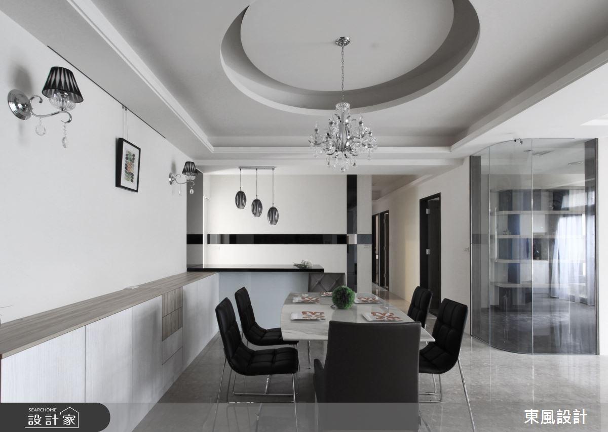 50坪新成屋(5年以下)_混搭風餐廳案例圖片_東風室內設計_東風_24之3