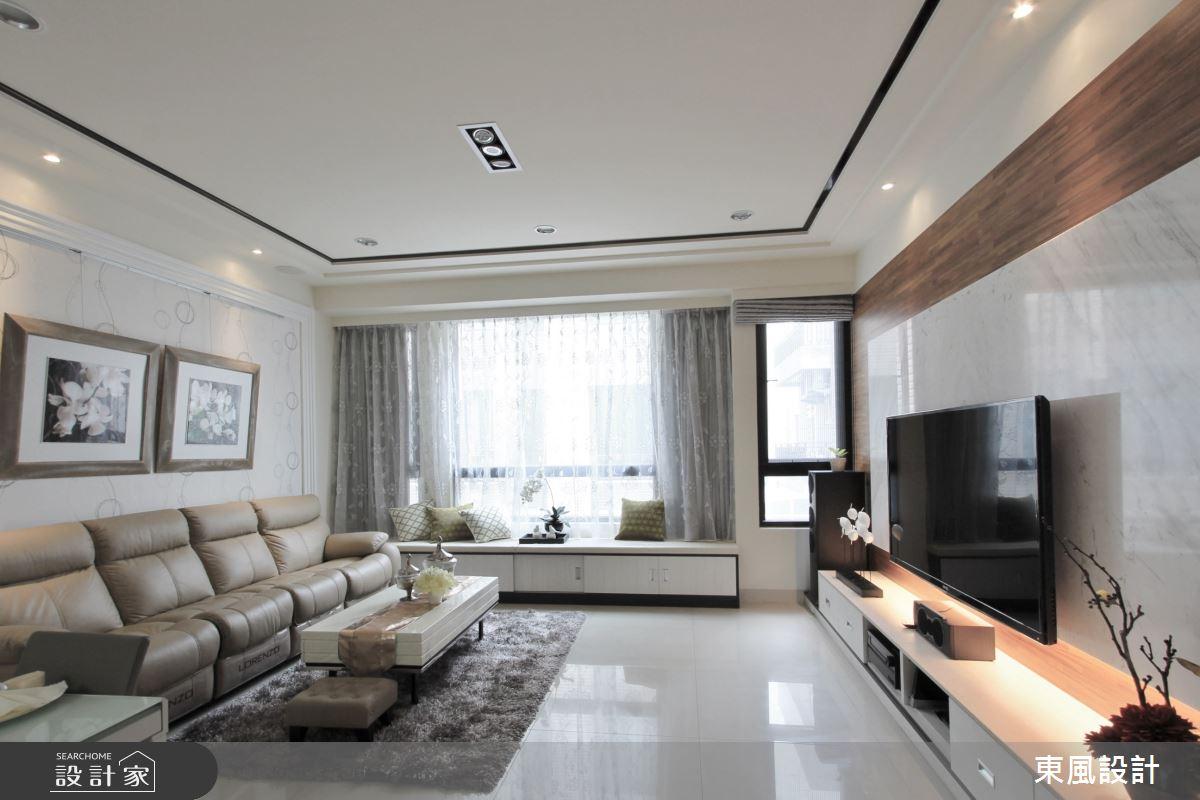 100坪新成屋(5年以下)_混搭風客廳臥榻案例圖片_東風室內設計_東風_25之3