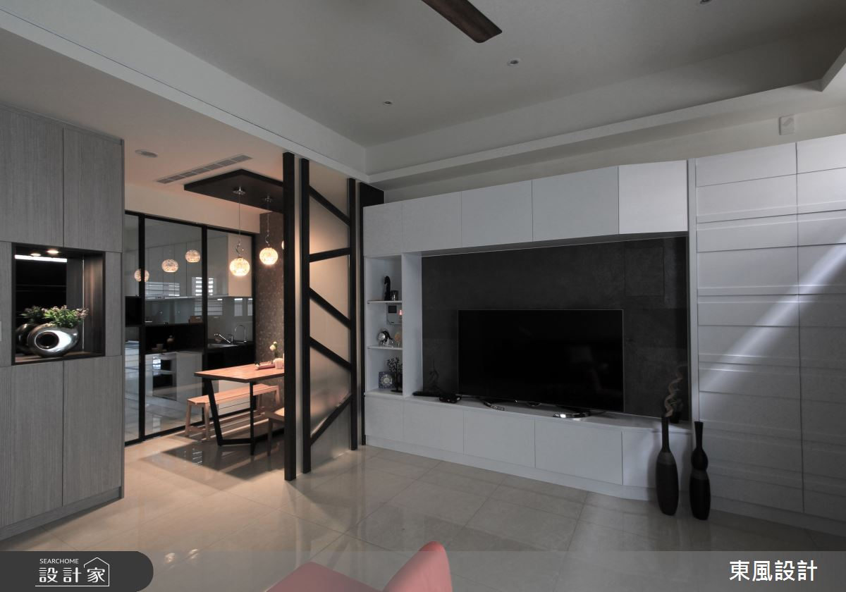 70坪新成屋(5年以下)_休閒風客廳案例圖片_東風室內設計_東風_28之4
