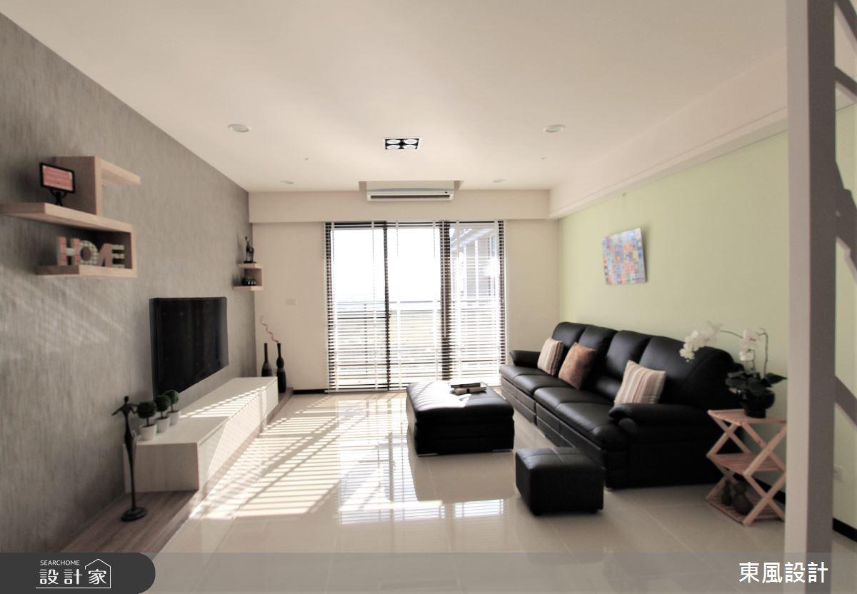 35坪新成屋(5年以下)_北歐風客廳案例圖片_東風室內設計_東風_29之3
