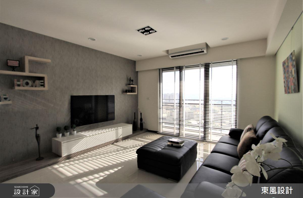 35坪新成屋(5年以下)_北歐風客廳案例圖片_東風室內設計_東風_29之4