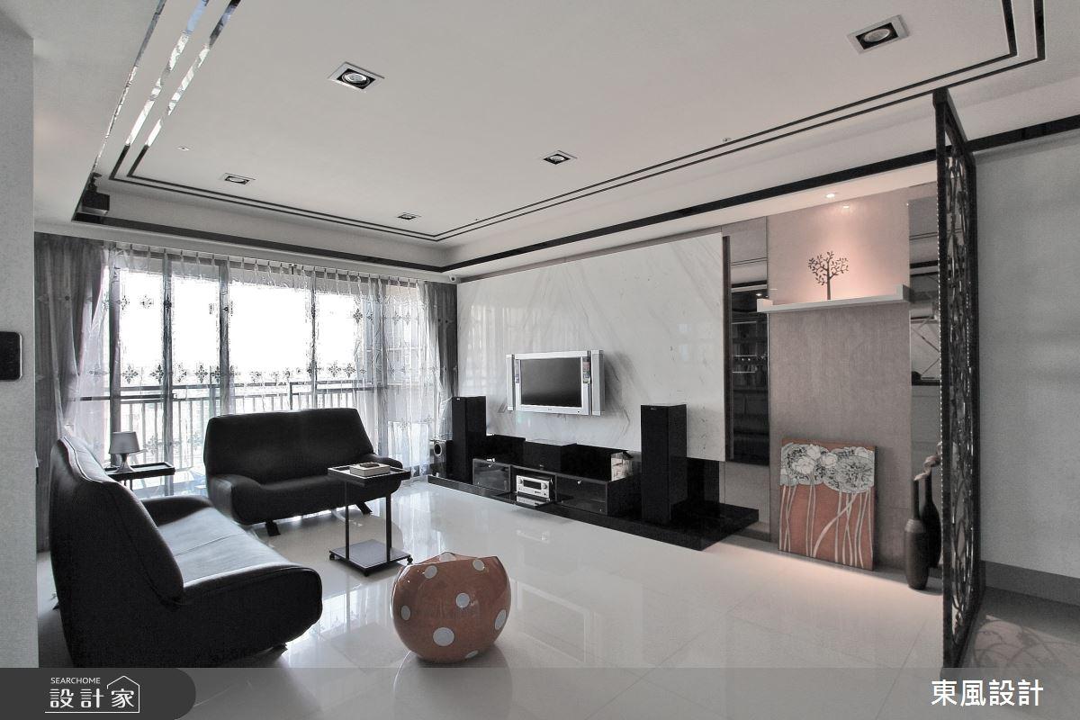 45坪新成屋(5年以下)_奢華風客廳案例圖片_東風室內設計_東風_30之5