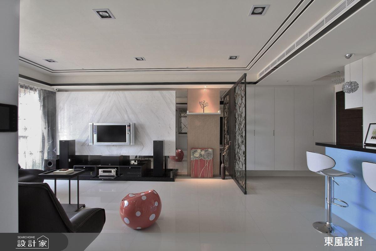 45坪新成屋(5年以下)_奢華風客廳案例圖片_東風室內設計_東風_30之4