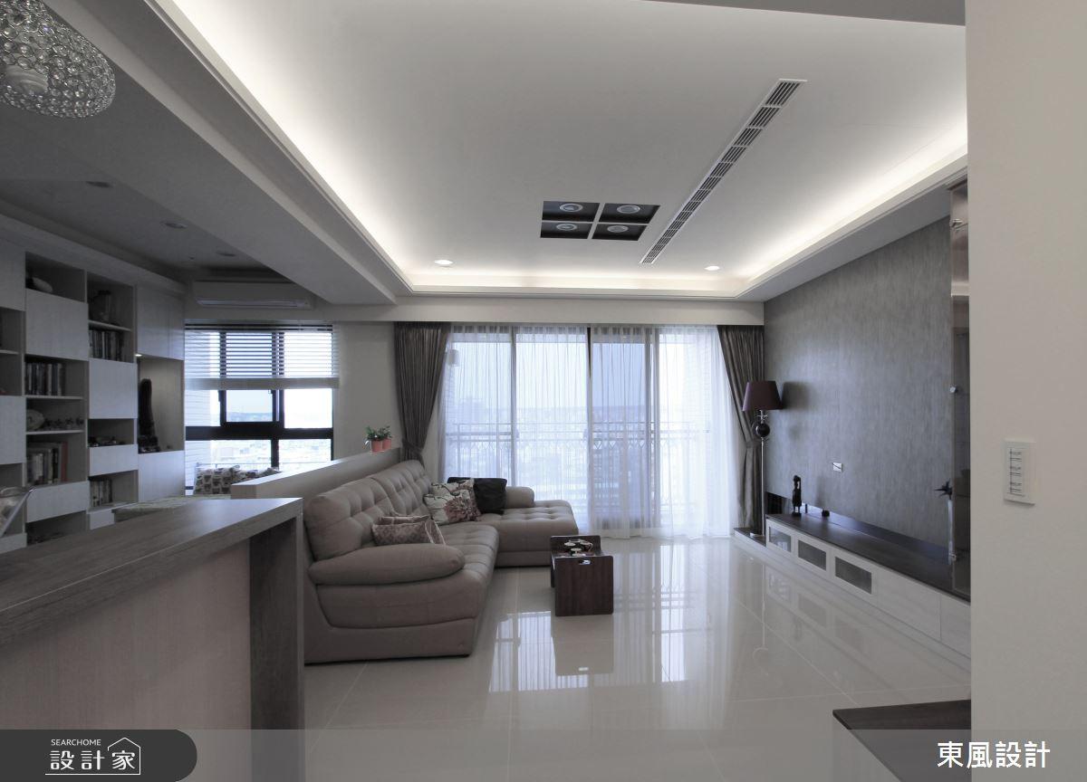 35坪新成屋(5年以下)_北歐風客廳案例圖片_東風室內設計_東風_31之4