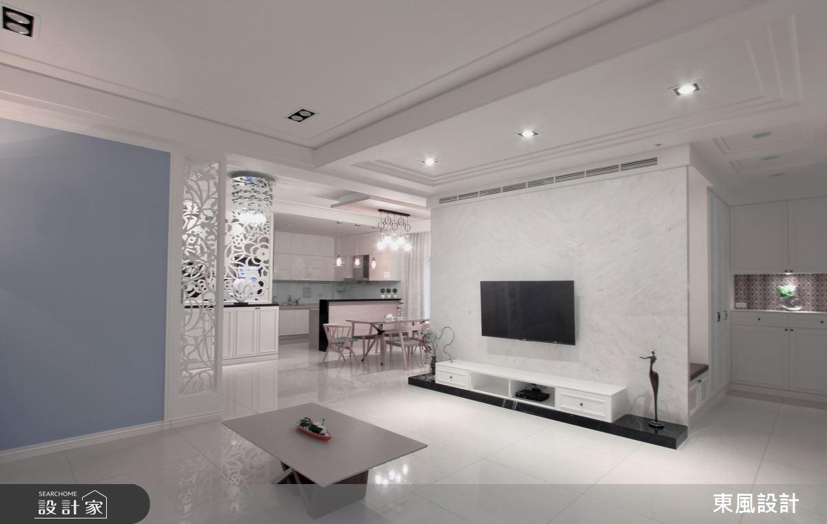 150坪新成屋(5年以下)_美式風客廳案例圖片_東風室內設計_東風_32之2