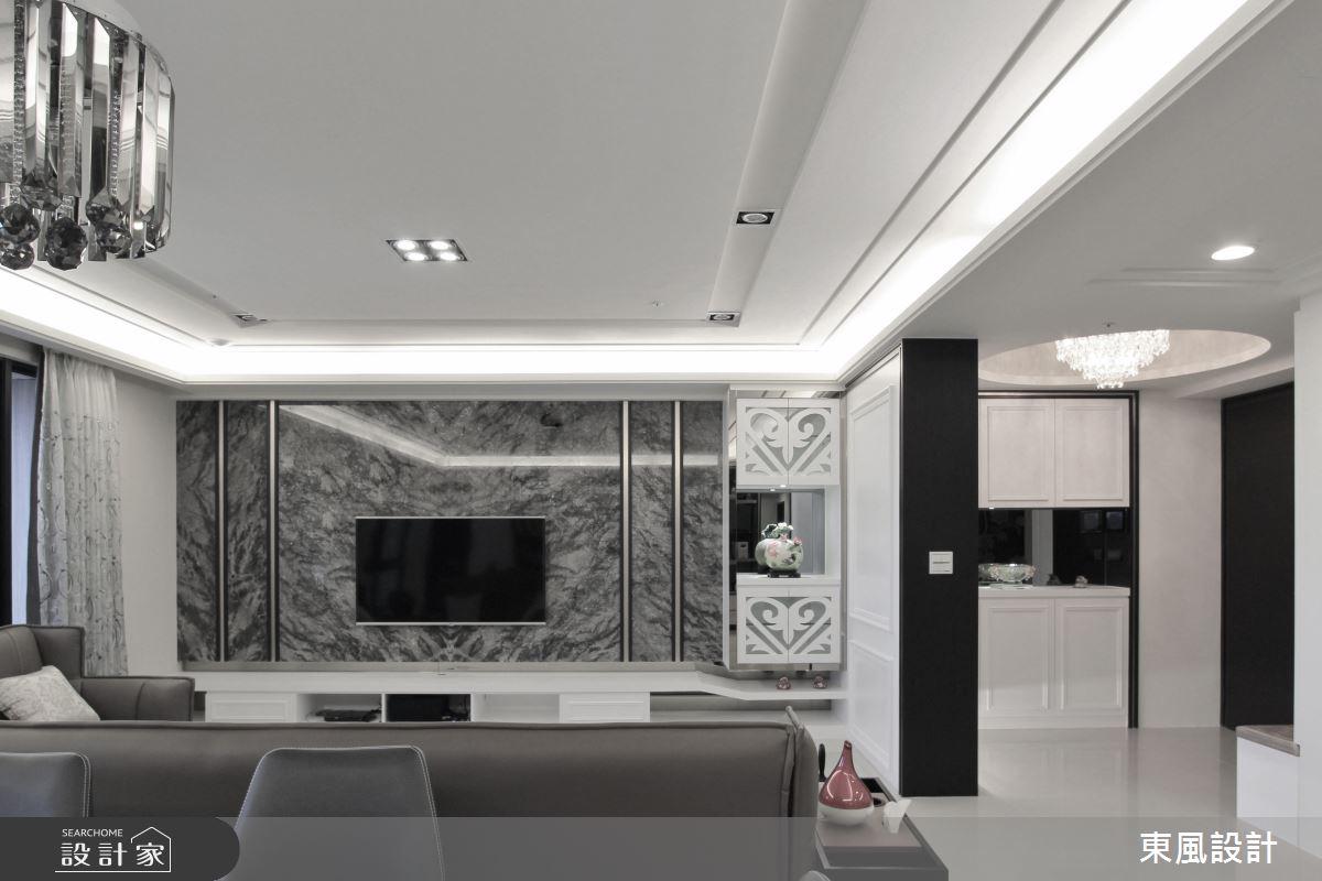 80坪新成屋(5年以下)_新古典客廳案例圖片_東風室內設計_東風_33之4