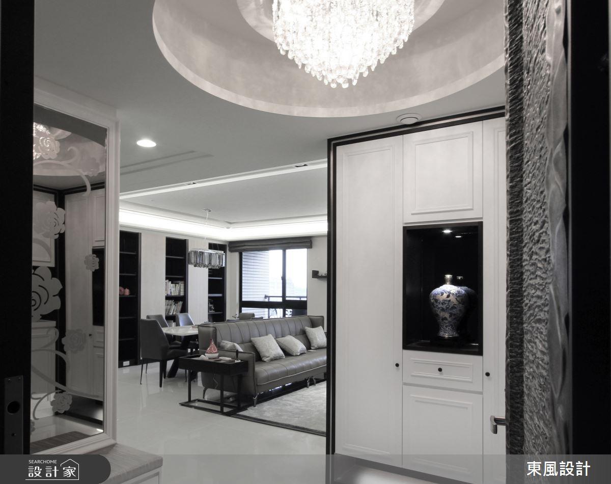 80坪新成屋(5年以下)_新古典客廳案例圖片_東風室內設計_東風_33之2