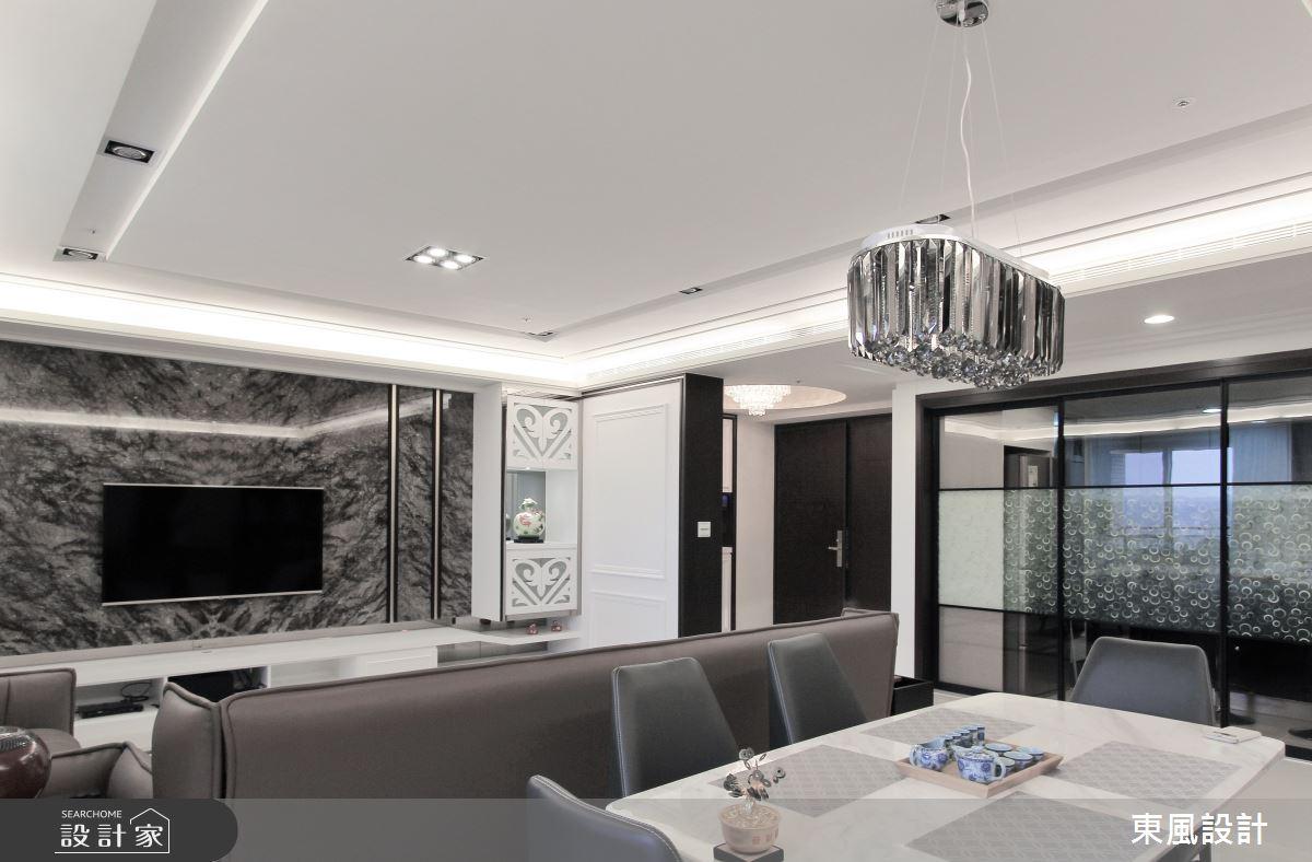 80坪新成屋(5年以下)_新古典餐廳案例圖片_東風室內設計_東風_33之6