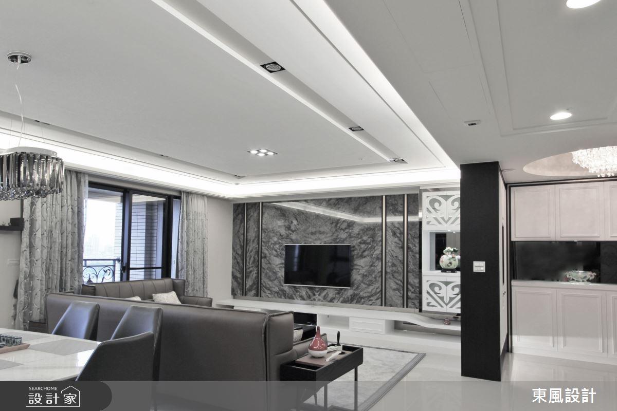 80坪新成屋(5年以下)_新古典客廳案例圖片_東風室內設計_東風_33之3