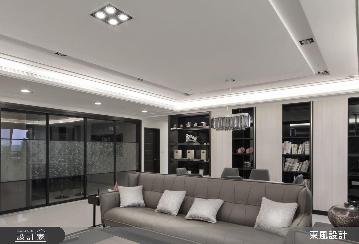 80坪新成屋(5年以下)_新古典客廳案例圖片_東風室內設計_東風_33之5
