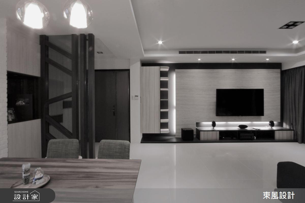 35坪新成屋(5年以下)_現代風客廳案例圖片_東風室內設計_東風_35之1