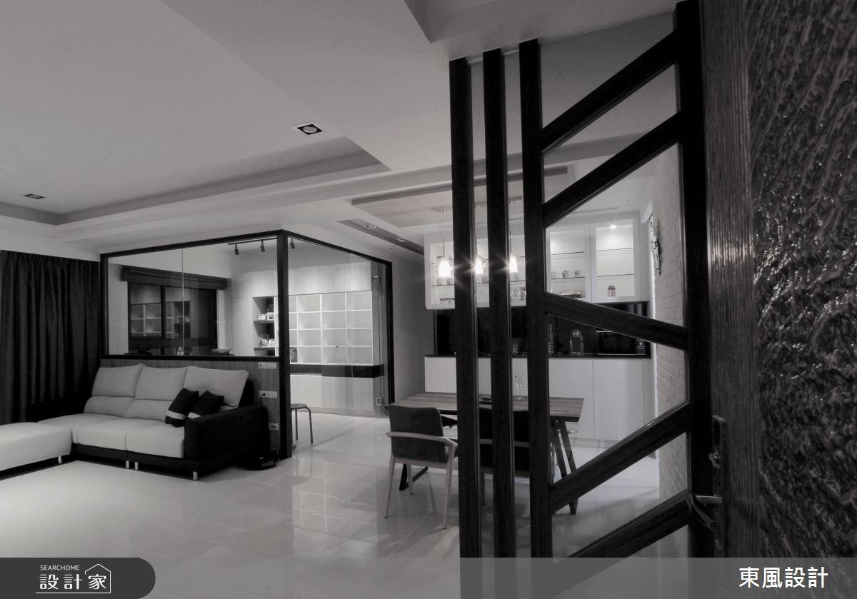 35坪新成屋(5年以下)_現代風客廳書房案例圖片_東風室內設計_東風_35之2