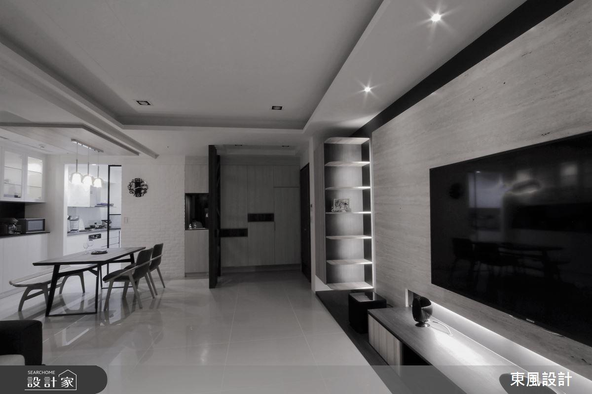 35坪新成屋(5年以下)_現代風案例圖片_東風室內設計_東風_35之3