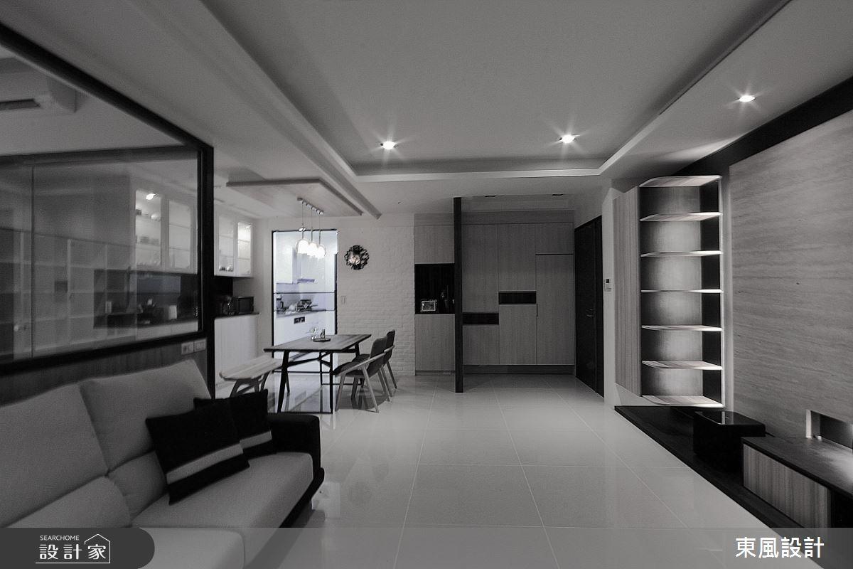 35坪新成屋(5年以下)_現代風餐廳案例圖片_東風室內設計_東風_35之4