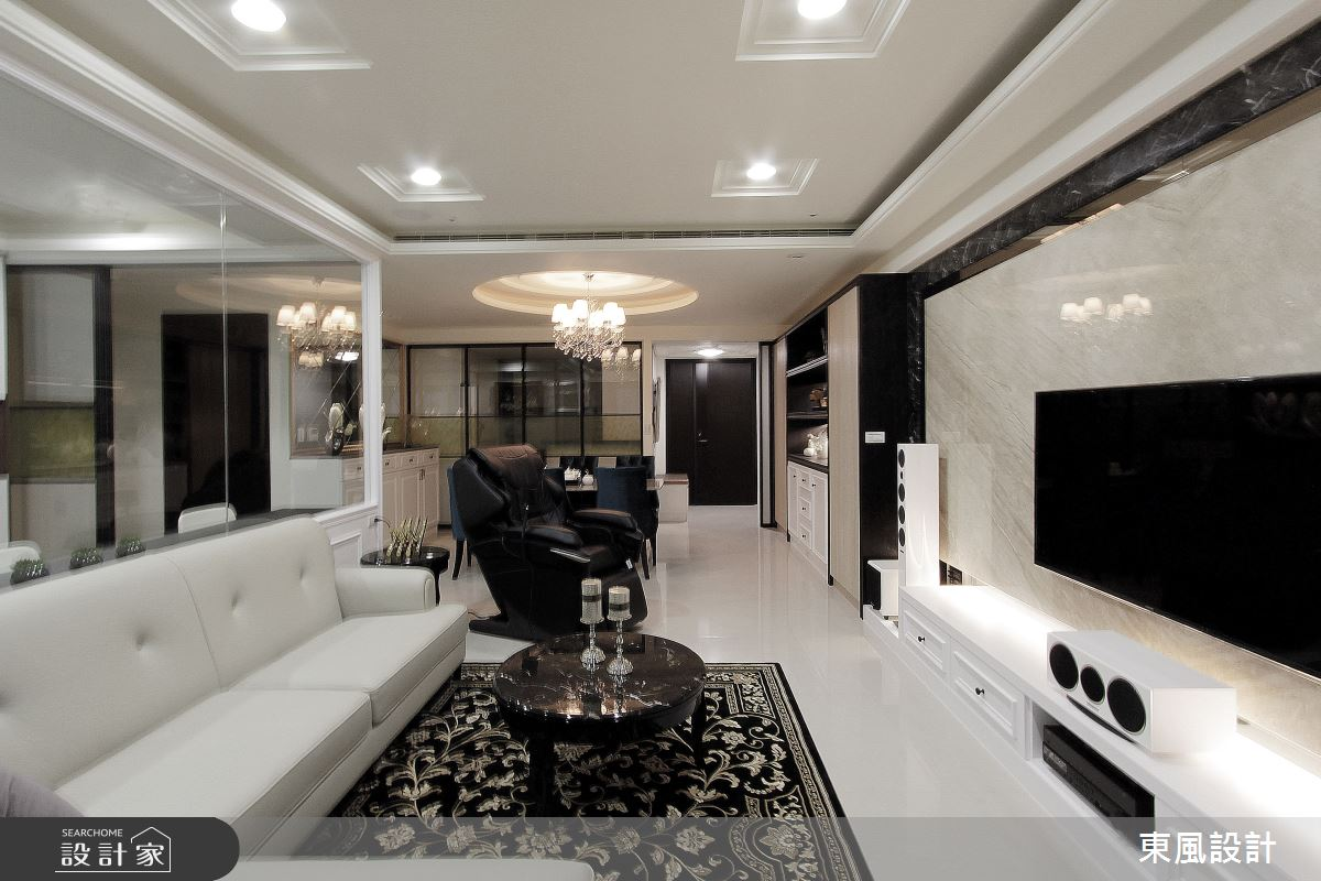35坪新成屋(5年以下)_新古典案例圖片_東風室內設計_東風_36之3