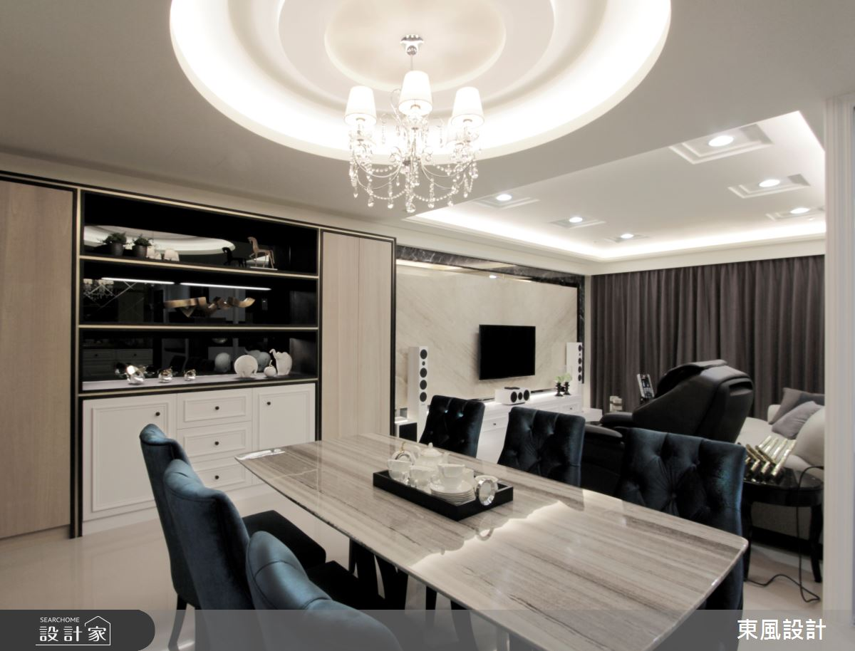 35坪新成屋(5年以下)_新古典餐廳案例圖片_東風室內設計_東風_36之2