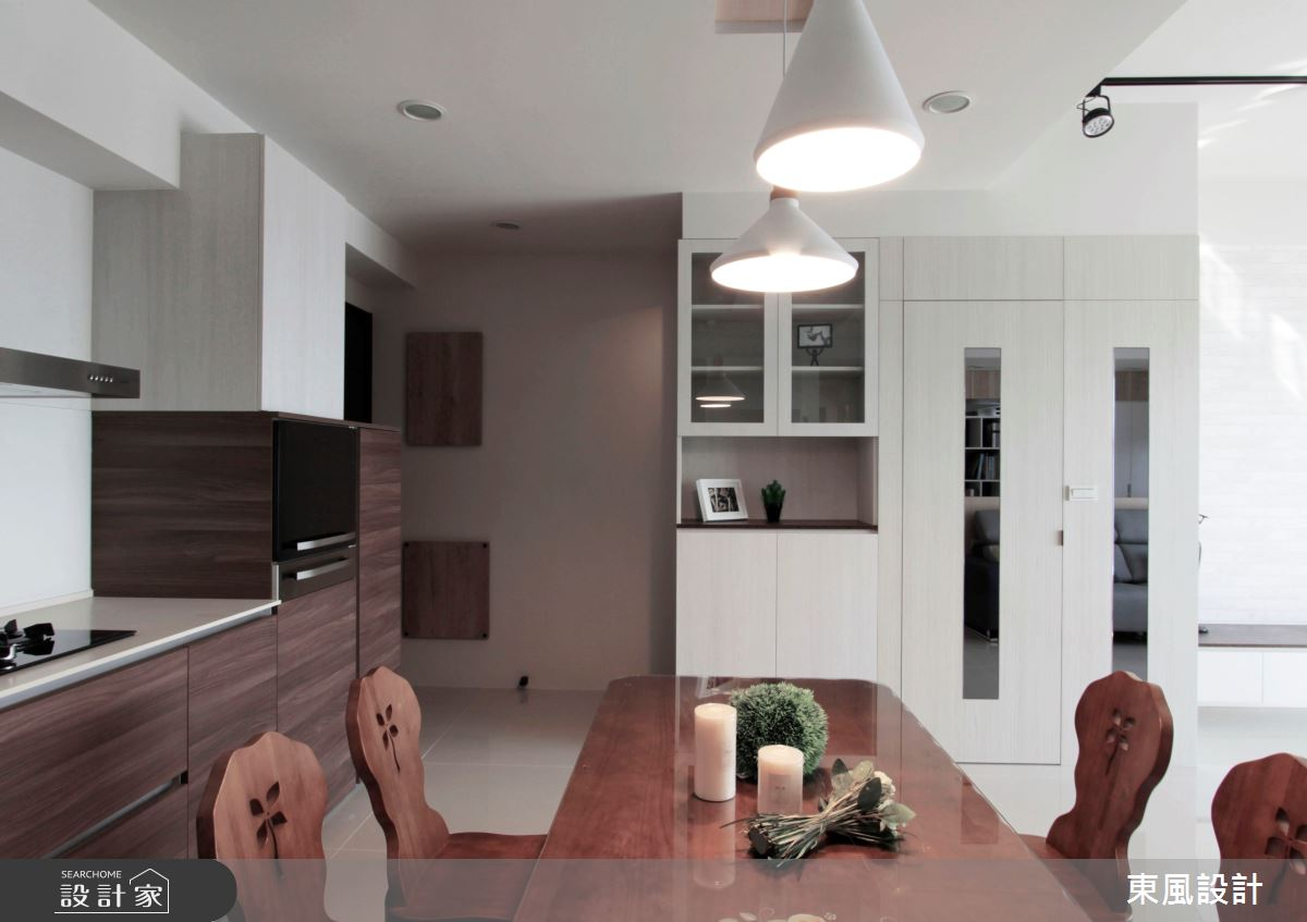 30坪新成屋(5年以下)_北歐風餐廳案例圖片_東風室內設計_東風_37之4