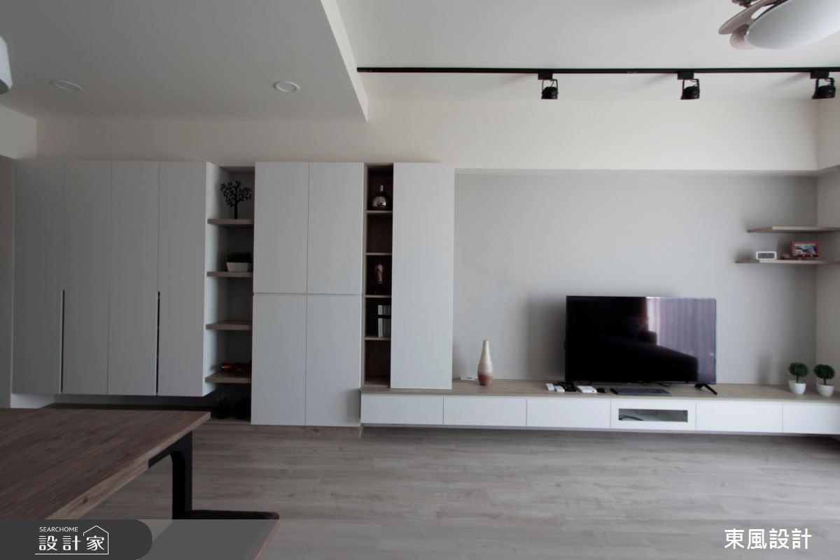 26坪新成屋(5年以下)_簡約風客廳案例圖片_東風室內設計_東風_38之3