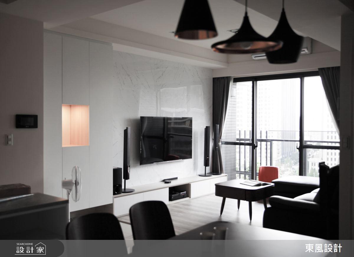 30坪新成屋(5年以下)_現代風客廳案例圖片_東風室內設計_東風_39之2