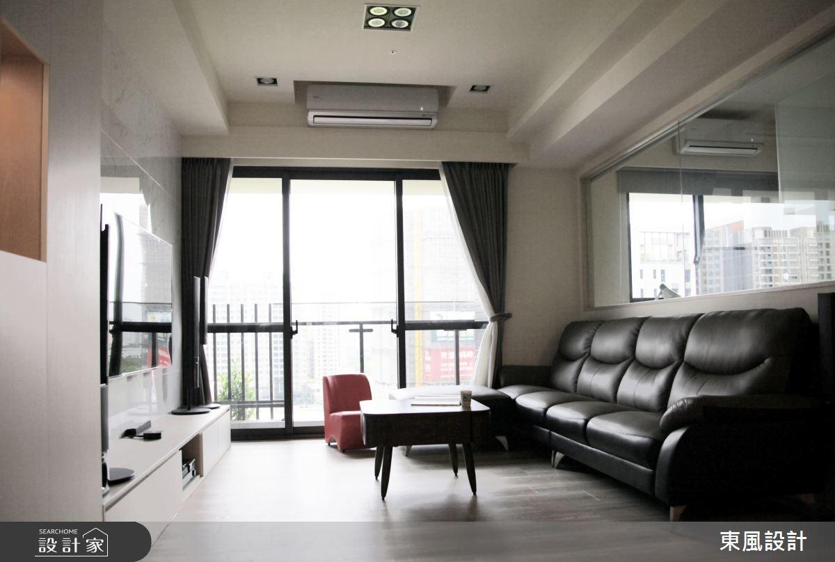 30坪新成屋(5年以下)_現代風客廳案例圖片_東風室內設計_東風_39之3