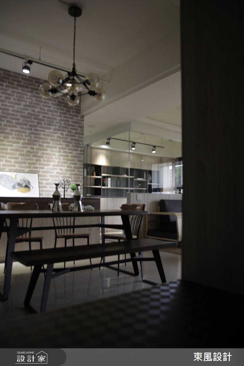 35坪新成屋(5年以下)_工業風餐廳案例圖片_東風室內設計_東風_40之6