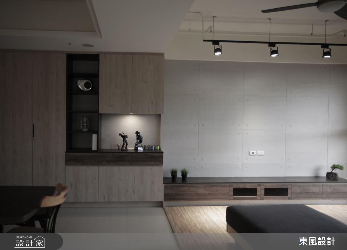 35坪新成屋(5年以下)_工業風客廳案例圖片_東風室內設計_東風_40之1