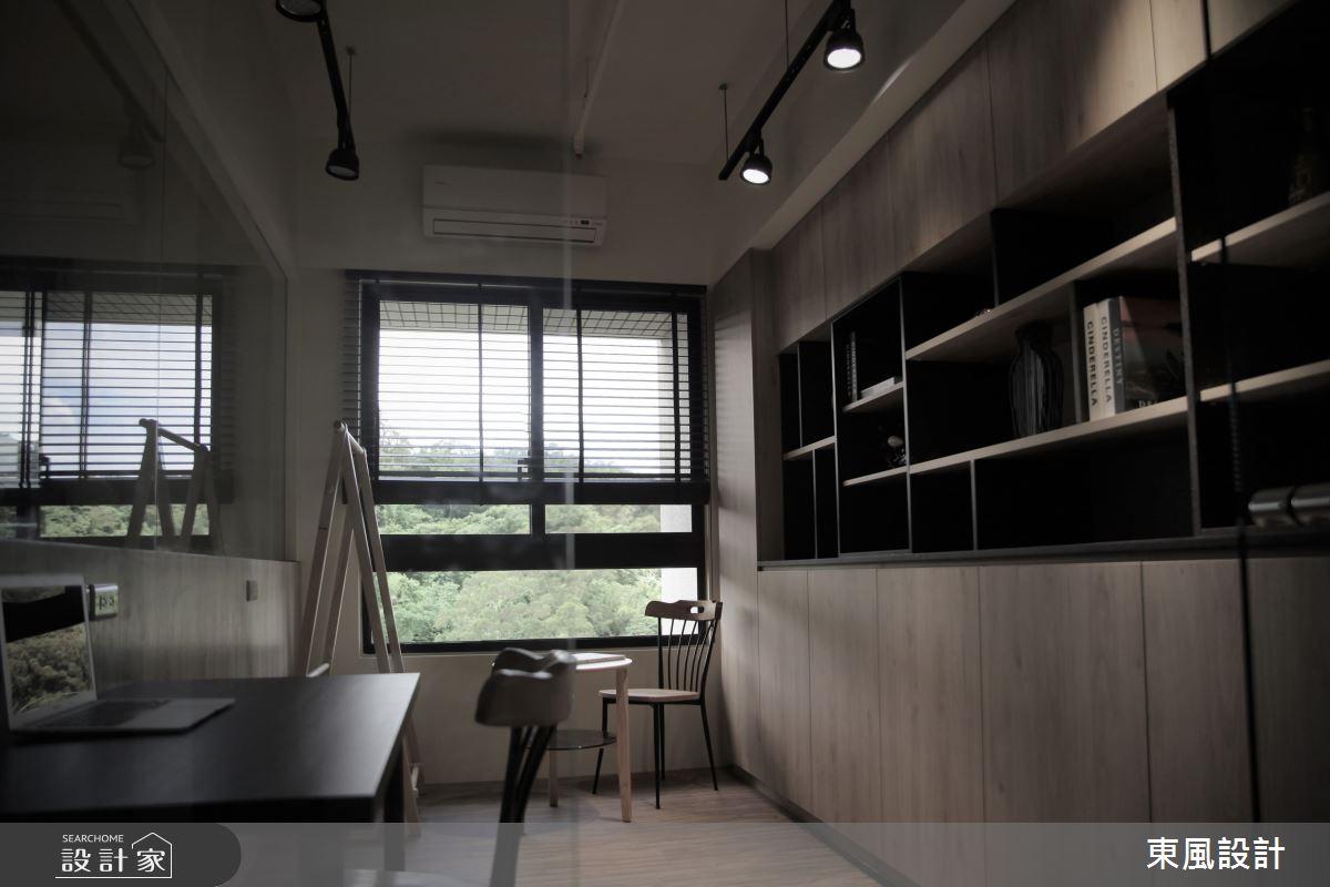 35坪新成屋(5年以下)_工業風書房案例圖片_東風室內設計_東風_40之9
