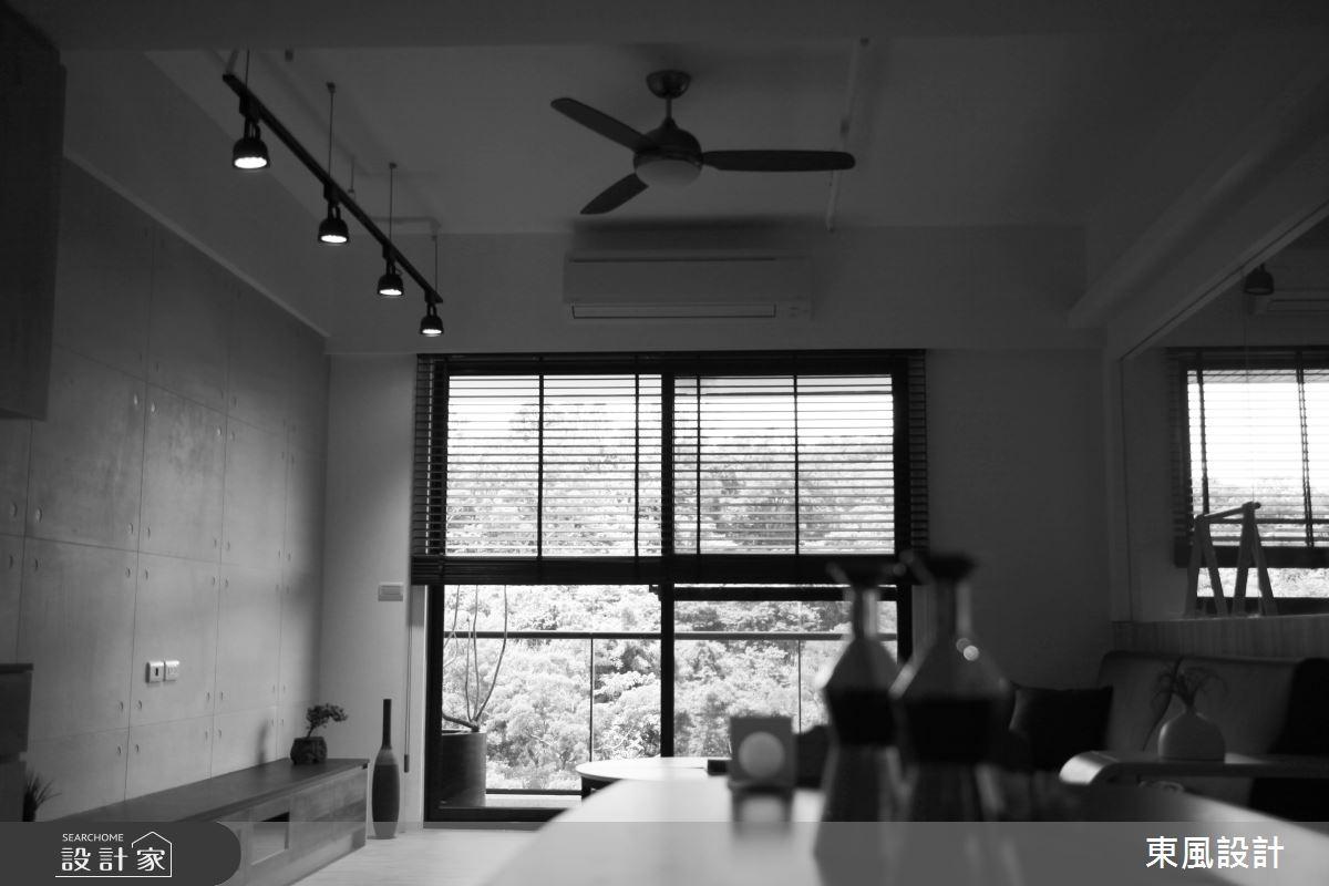 35坪新成屋(5年以下)_工業風客廳案例圖片_東風室內設計_東風_40之8