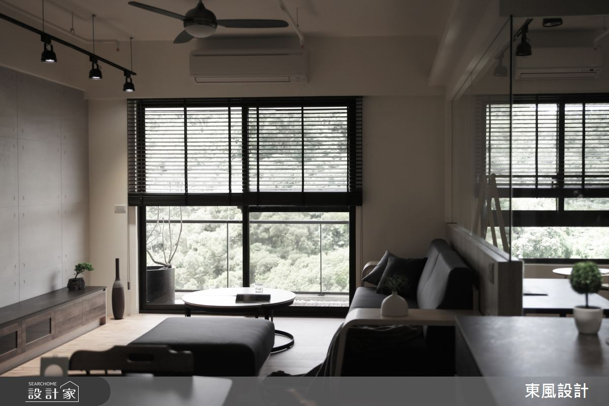 35坪新成屋(5年以下)_工業風客廳案例圖片_東風室內設計_東風_40之3