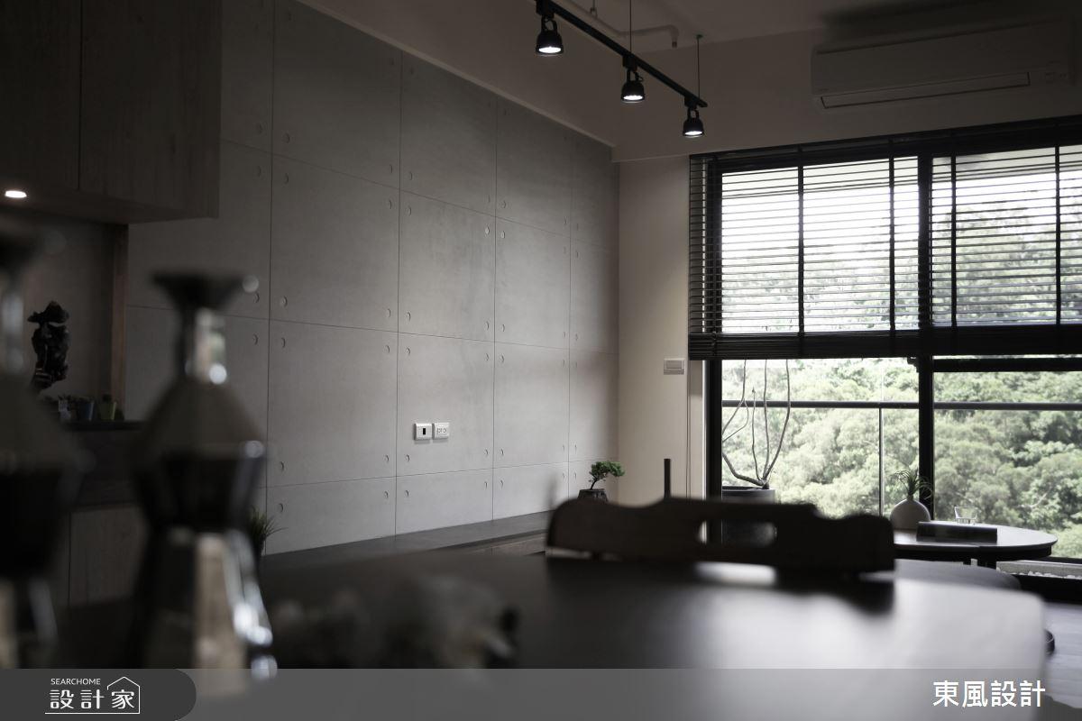 35坪新成屋(5年以下)_工業風客廳案例圖片_東風室內設計_東風_40之7