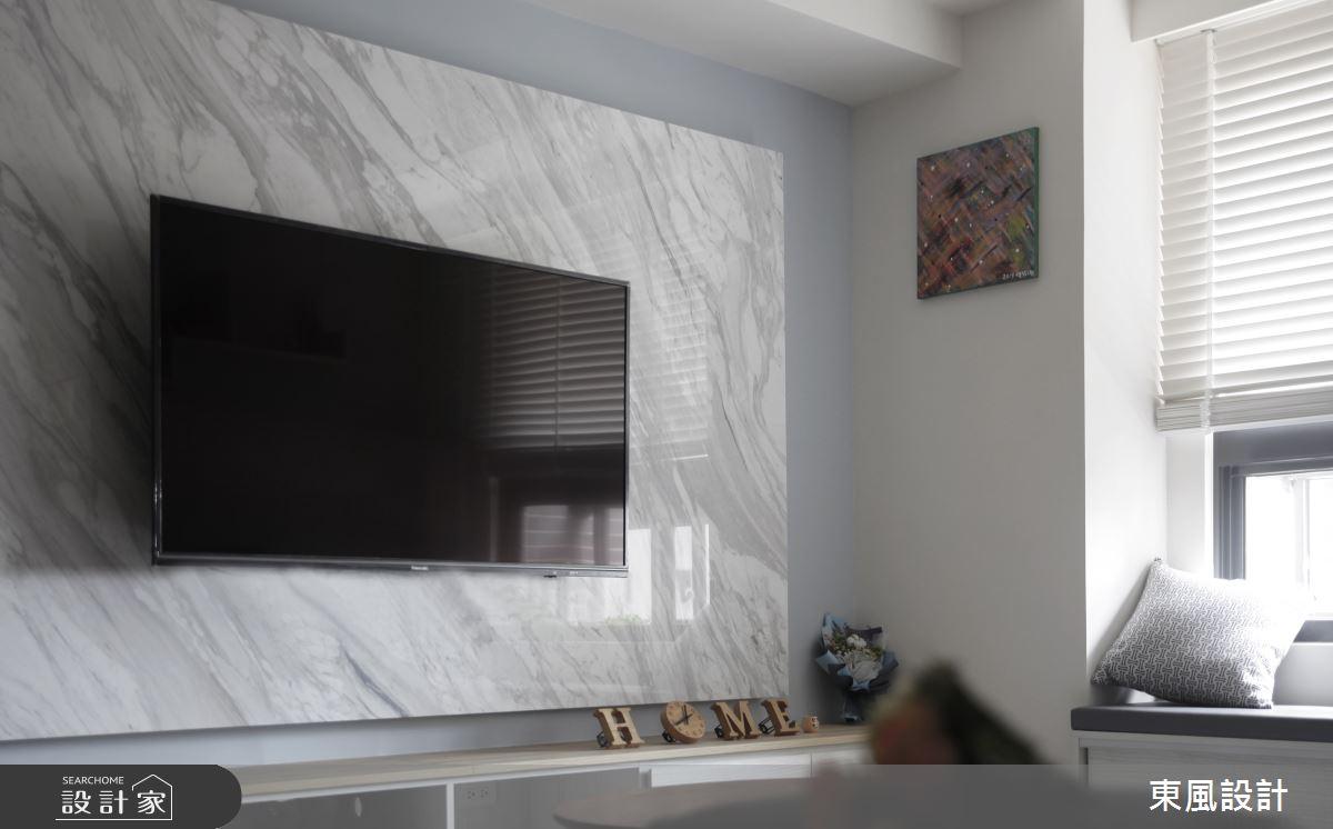 25坪新成屋(5年以下)_休閒風客廳案例圖片_東風室內設計_東風_42之4