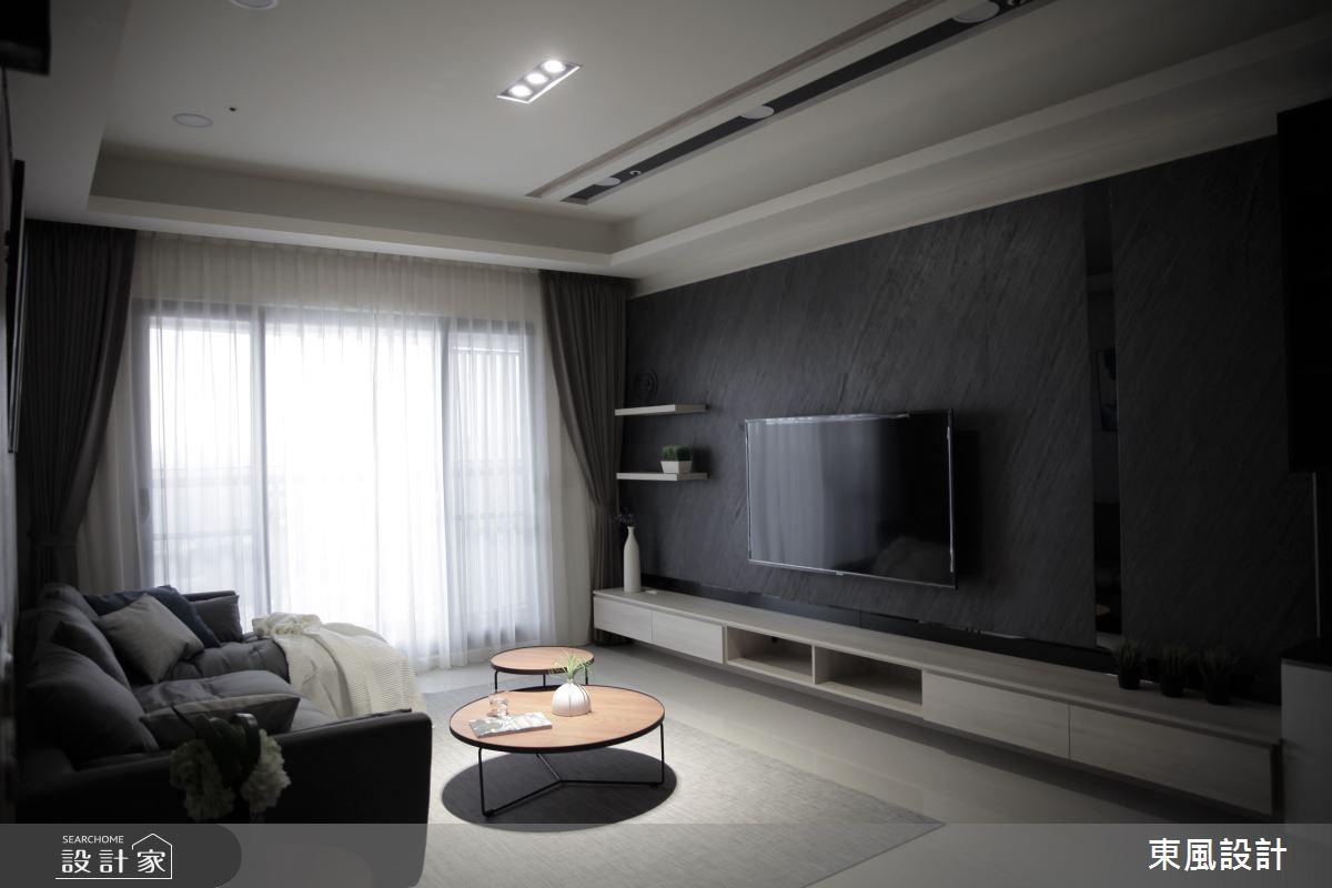 35坪新成屋(5年以下)_現代風客廳案例圖片_東風室內設計_東風_43之4