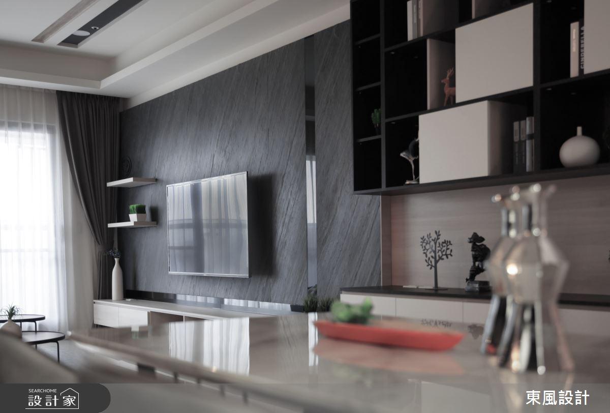 35坪新成屋(5年以下)_現代風客廳案例圖片_東風室內設計_東風_43之2
