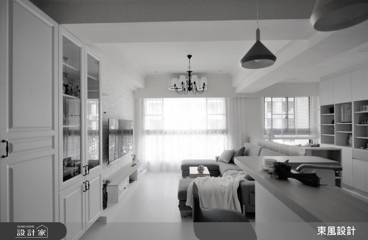 35坪新成屋(5年以下)_美式風客廳餐廳案例圖片_東風室內設計_東風_44之3