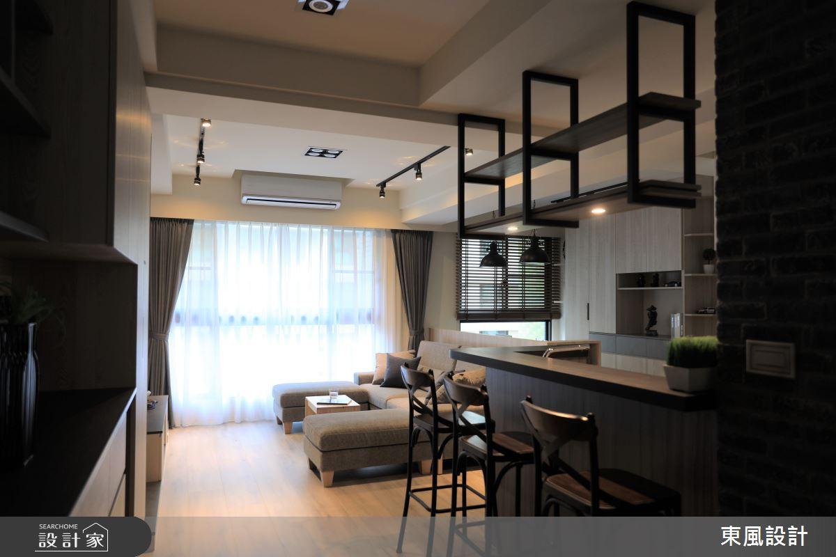 35坪新成屋(5年以下)_工業風餐廳案例圖片_東風室內設計_東風_45之1