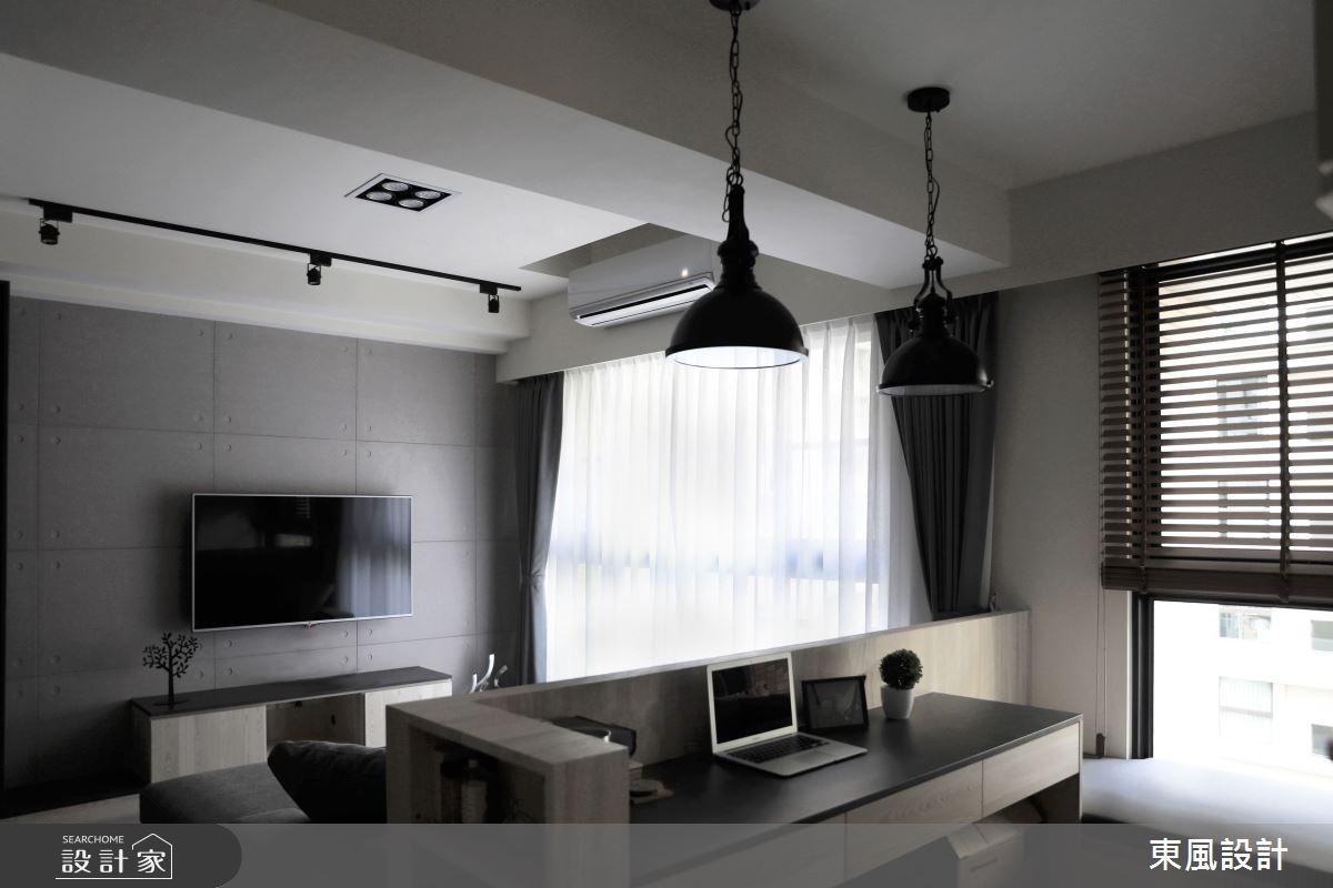 35坪新成屋(5年以下)_工業風書房案例圖片_東風室內設計_東風_45之4