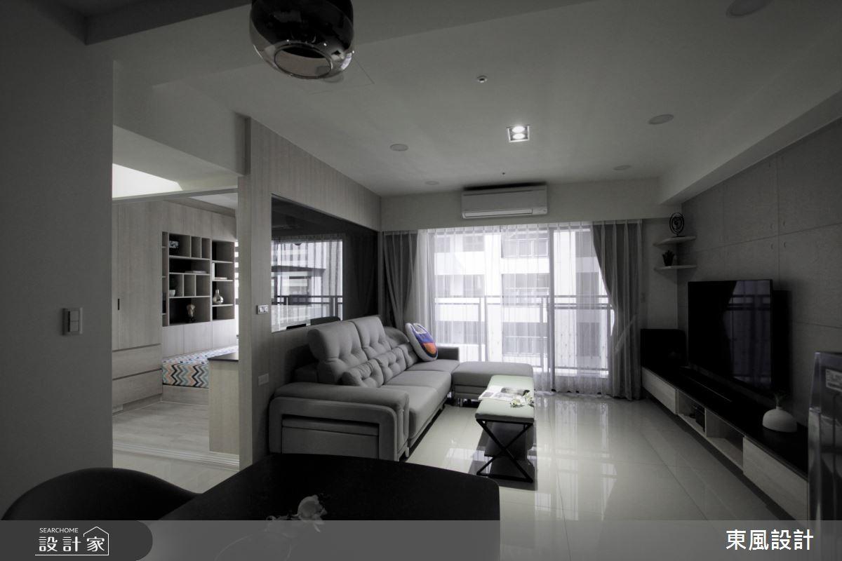 30坪新成屋(5年以下)_現代風客廳案例圖片_東風室內設計_東風_46之2