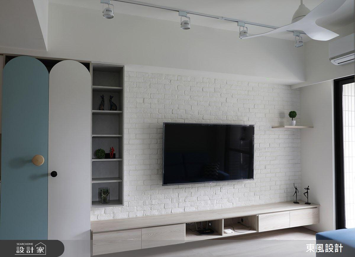 22坪新成屋(5年以下)_北歐風客廳案例圖片_東風室內設計_東風_48之4