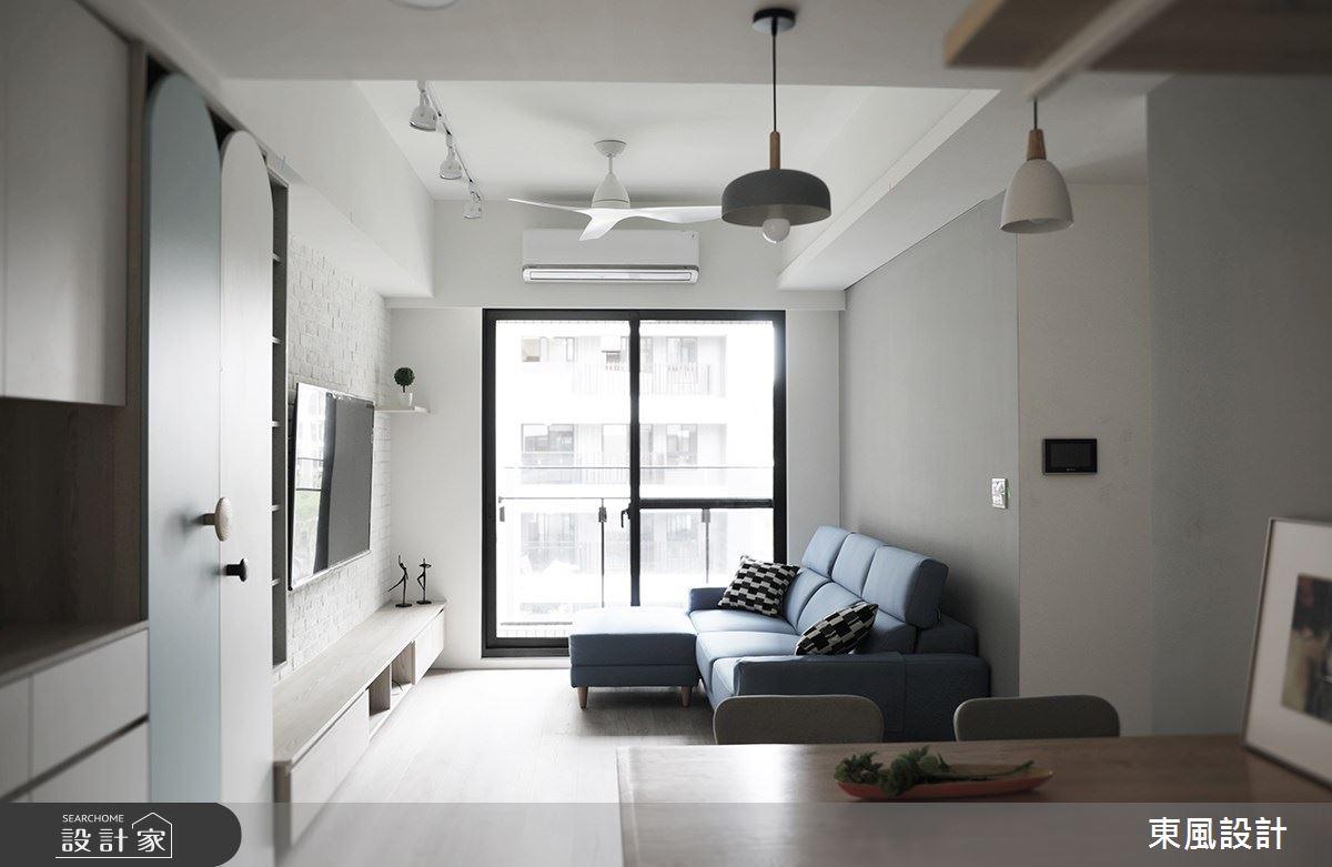22坪新成屋(5年以下)_北歐風客廳餐廳案例圖片_東風室內設計_東風_48之3
