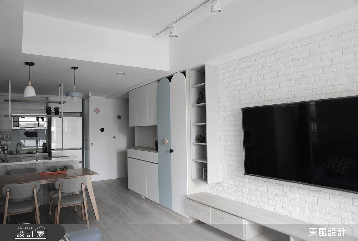 22坪新成屋(5年以下)_北歐風客廳餐廳案例圖片_東風室內設計_東風_48之6
