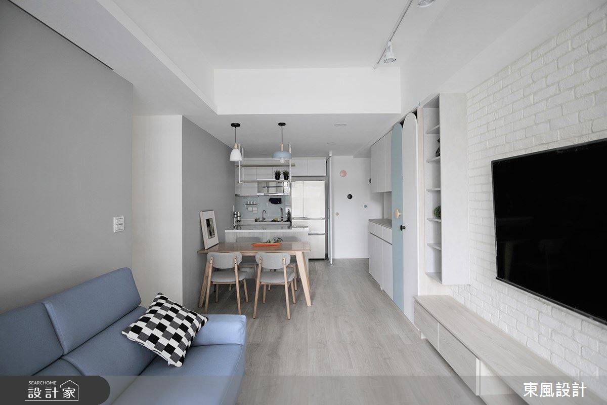 22坪新成屋(5年以下)_北歐風客廳餐廳案例圖片_東風室內設計_東風_48之5