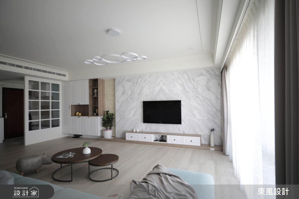 50坪新成屋(5年以下)_北歐風客廳案例圖片_東風室內設計_東風_50之3