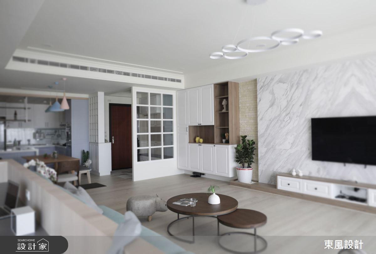 50坪新成屋(5年以下)_北歐風客廳案例圖片_東風室內設計_東風_50之4