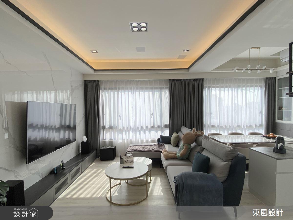 80坪新成屋(5年以下)_現代風案例圖片_東風室內設計_東風_52之4