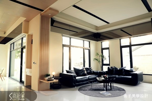 150坪新成屋(5年以下)_簡約風客廳案例圖片_舍子美學設計_舍子美學_29之2